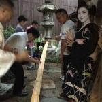 宮川町の町家で、舞妓さんと一緒に流しソーメンをしました!