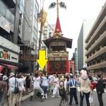 祇園祭、曳き初めのガイドツアー開催!鉾建を終えた鉾を引っ張りました!