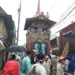 台風にも関わらず祇園祭の山鉾巡行は実施!巡行見学ツアーも強行!