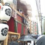 晴れ女のガイドさんの日に大雨!祇園祭の後祭ガイドツアー開催!